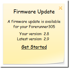 Garmin 305 Firmware Update Available