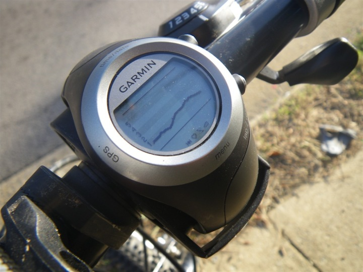 Garmin 405 HR Graph