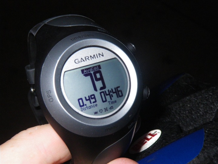 Garmin 405 Average Cadence