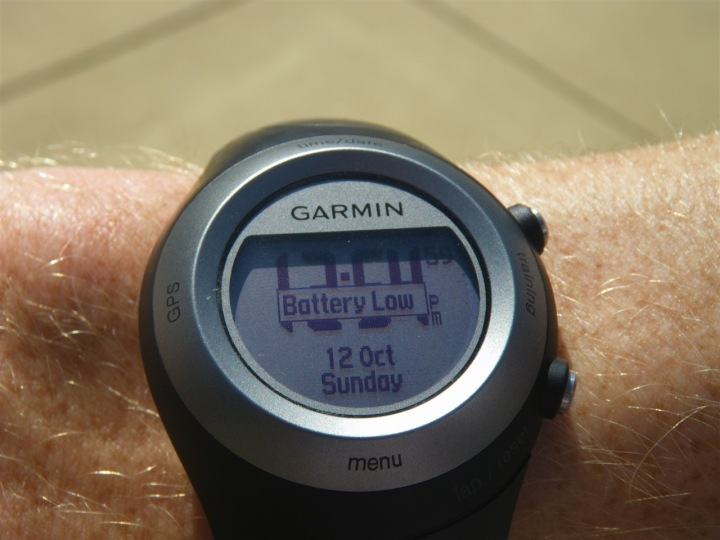 Garmin 405 Battery Low