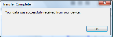 Garmin Training Center Transfer