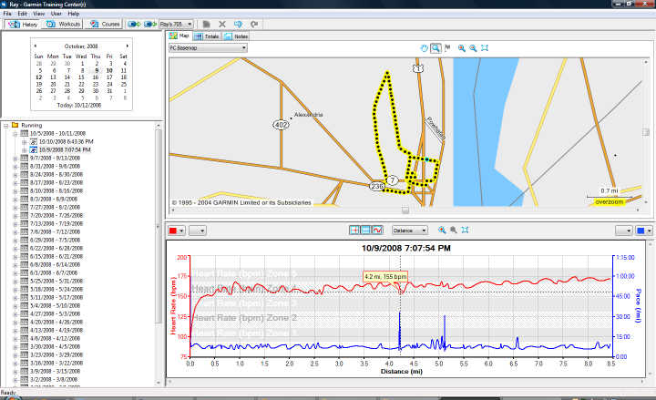 Garmin Training Center