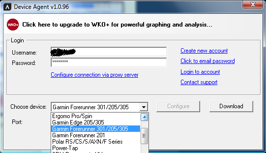 Training Peaks Device Agent