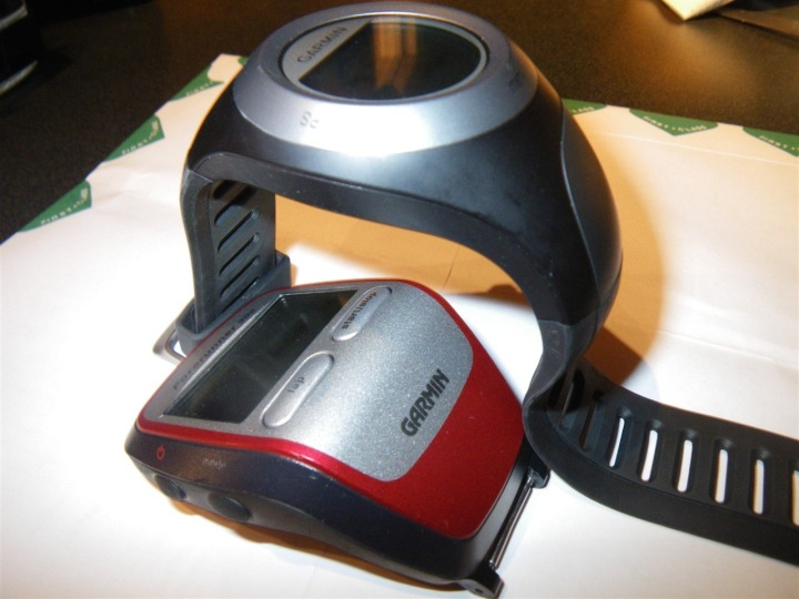 Garmin 405 next to 305
