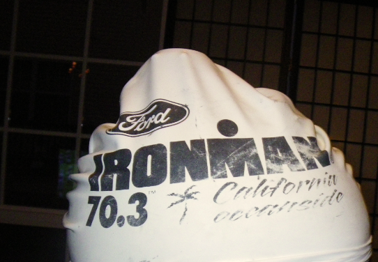 Garmin 405 under swim cap