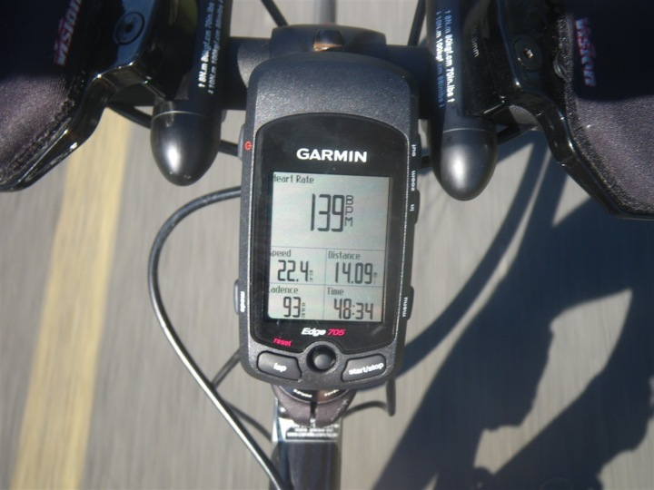 Garmin Edge 705 Primary Display