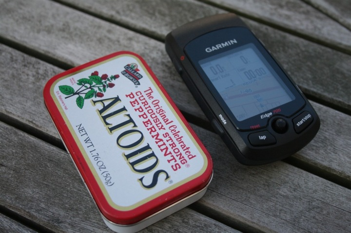 Garmin Edge 705 Size
