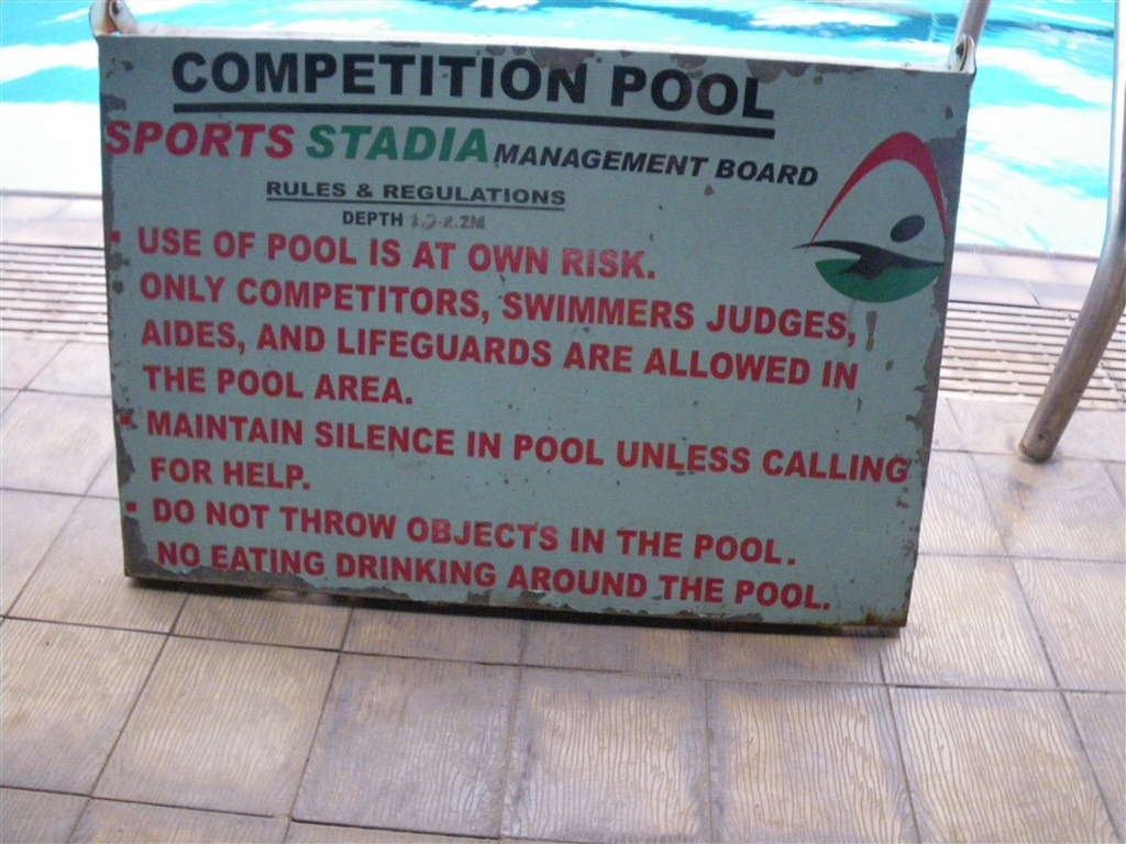 Pics photos swimming pool rules depths sign - I Can Say With Good Certainty That Basically All The Rules Were Ignored But That S Ok As It Wasn T Too Bad From There I Was Presented With This View