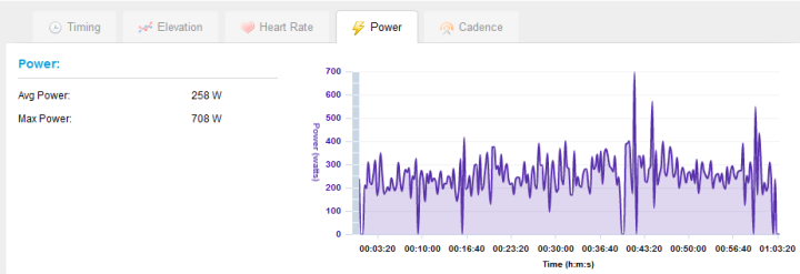 Garmin 310XT Power Data on Garmin Connect