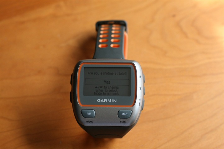 Garmin 310XT First Power on, lifetime athlete