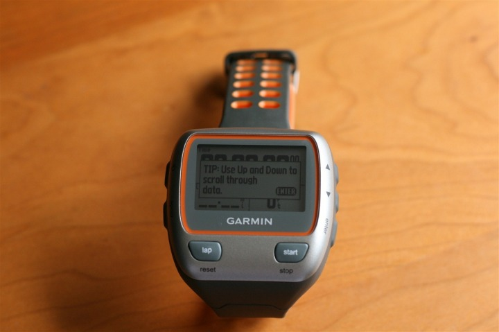 Garmin 310XT First Power On