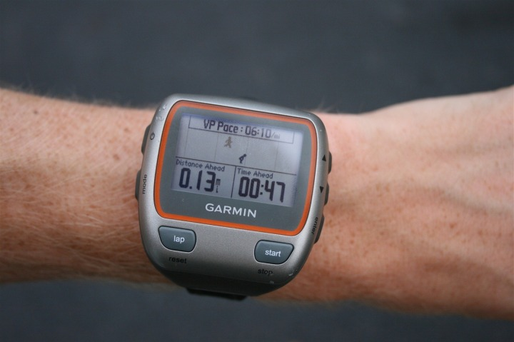 Garmin 310XT Virtual Partner while running