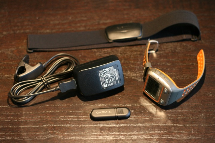 Garmin 310XT Opened Contents - Core Items