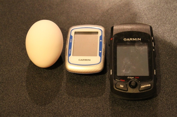 Edge 500, an Egg, and Edge 705