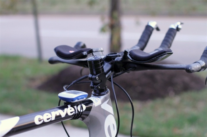 Edge 500 mount system on triathlon bike top tube