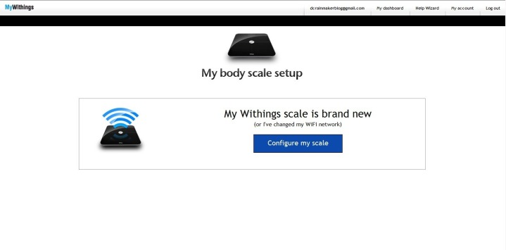 Withings WiFi New Scale Setup