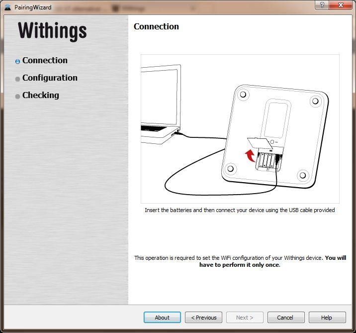 Withings WiFi Setup Application Configuration