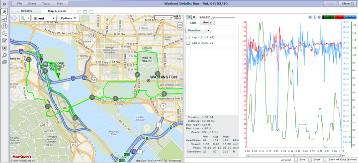 Training Peaks Map View
