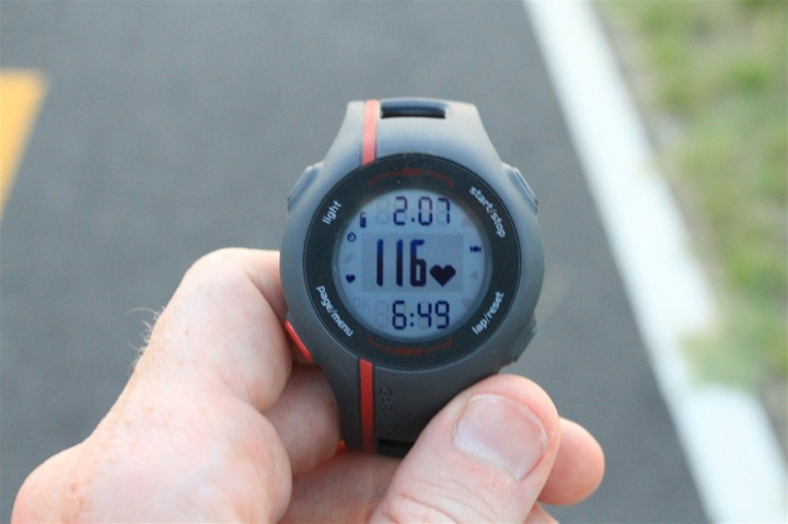 FR110 Heart Rate Display