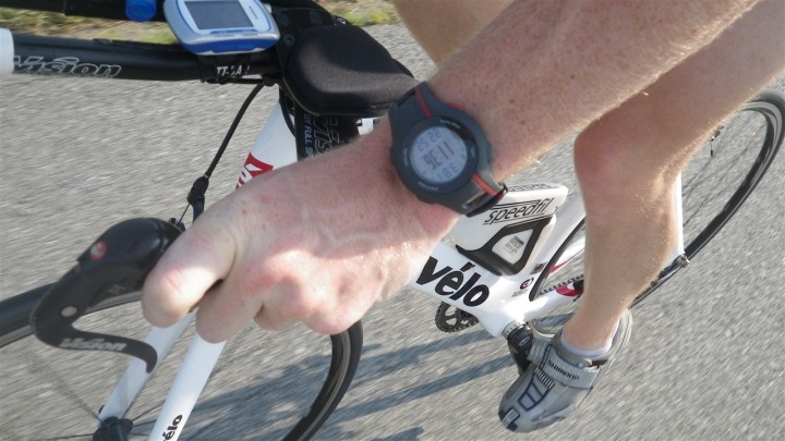 Garmin FR110 while cycling