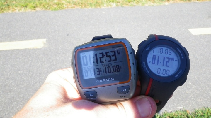 Garmin FR110 and 310XT Run Comparison