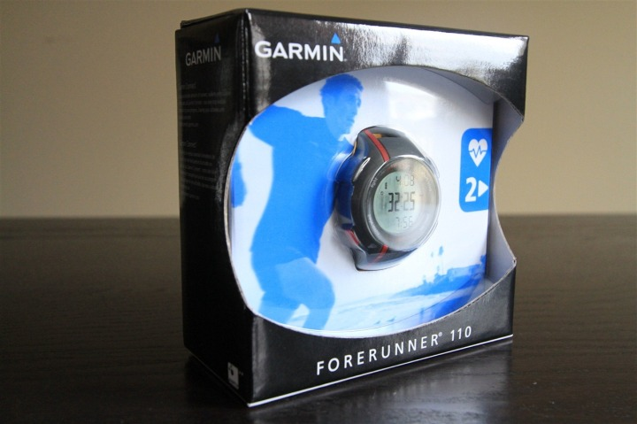 Garmin FR110 Outside Box Shot