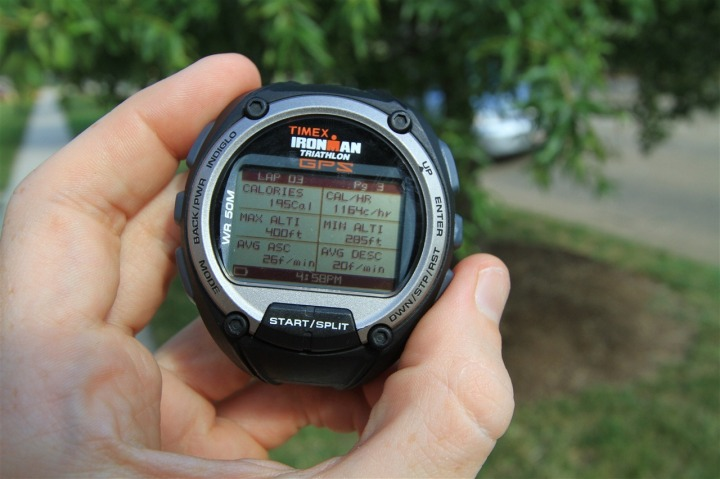 Timex Global Trainer Lap Review Mode