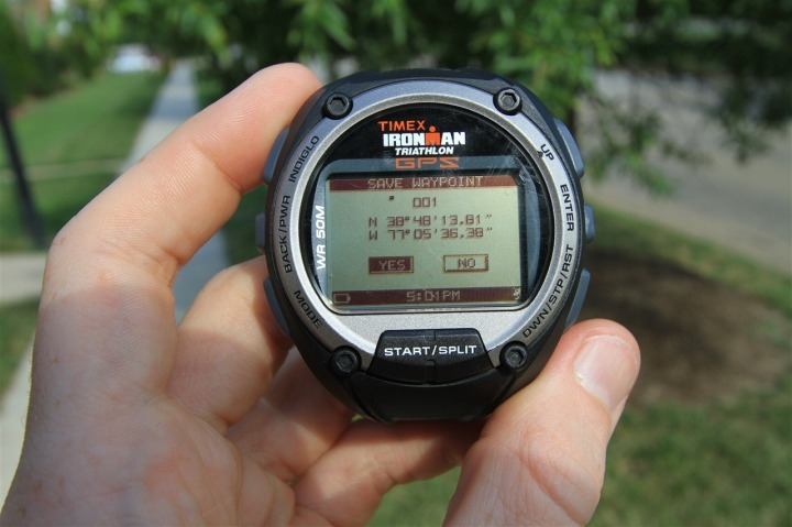 Timex Global Trainer Waypoint Setting