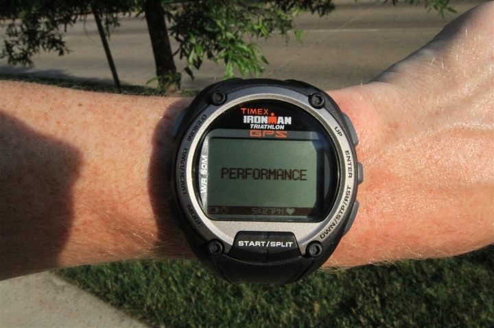 Timex Global Trainer Performance Mode