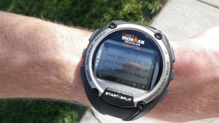 Timex Global Trainer Lap Summary