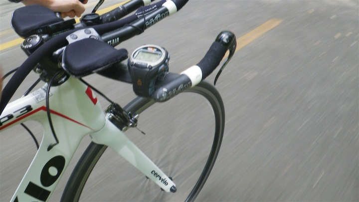 Timex Global Trainer while Cycling