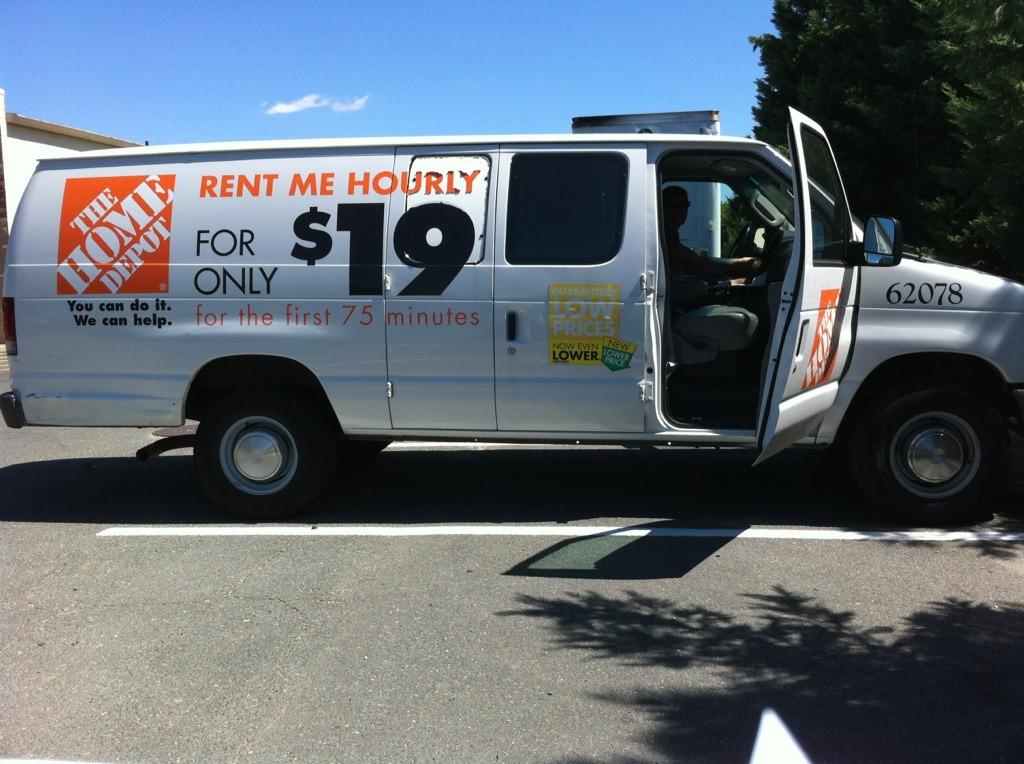 home depot truck rental cost. Black Bedroom Furniture Sets. Home Design Ideas