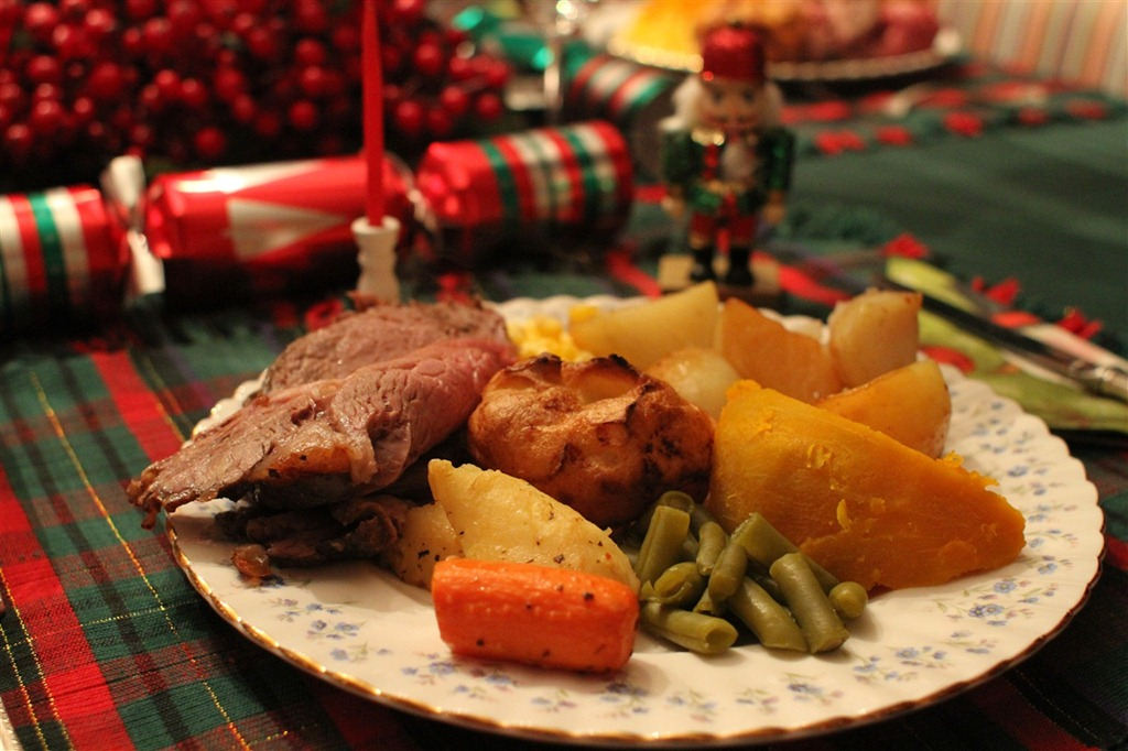 Now you may notice that little Nutcracker hanging out back there behind my plate. The key item in this picture is that you only notice just one. & A Newfoundland Christmas   DC Rainmaker