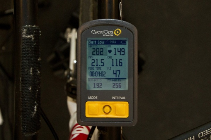 CycleOps Joule - Onbike Dashboard View