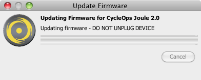 CycleOps PowerAgent - Updating Joule Firmware