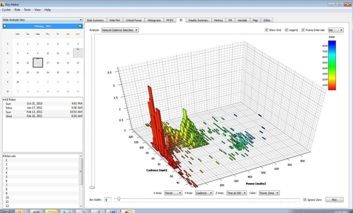 Golden Cheetah Ride 3D View with PowerTap Data via Joule