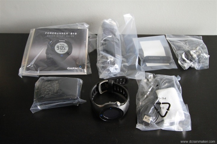 Garmin Forerunner 610 Box Parts Unwrapped