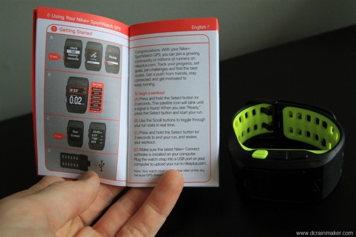 Nike+ GPS Sportwatch Manual