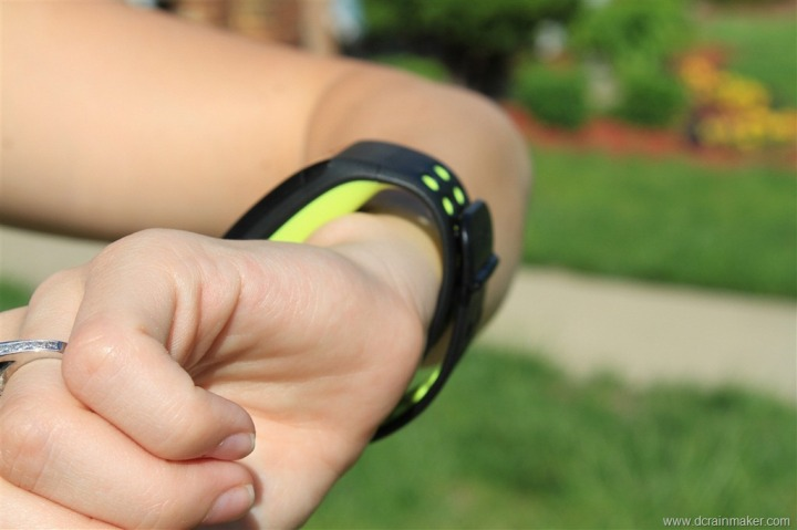 Nike+ GPS Sportwatch on Small Female Wrist