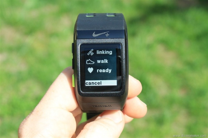 Nike+ GPS Sportwatch Looking for Sensor