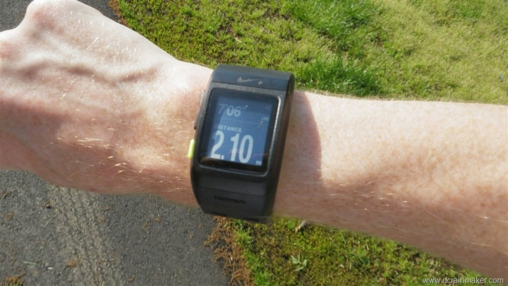 Nike+ GPS Sportwatch while running