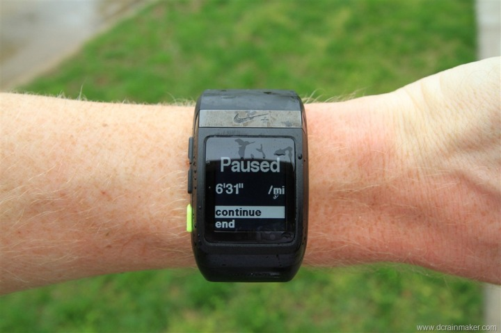 Nike+ GPS Sportwatch Paused