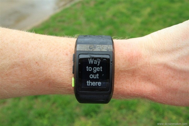 Nike+ GPS Sportwatch Encouragement Notes