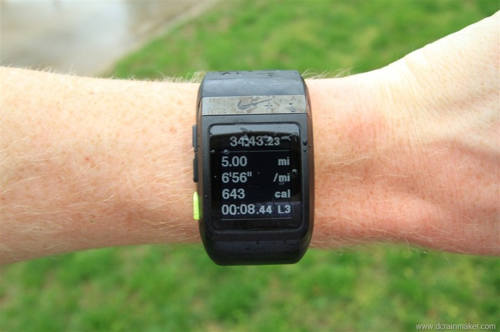 Nike+ GPS Sportwatch Run Summary