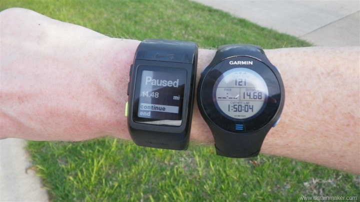 Nike+ GPS Sportwatch Run Distance Comparison