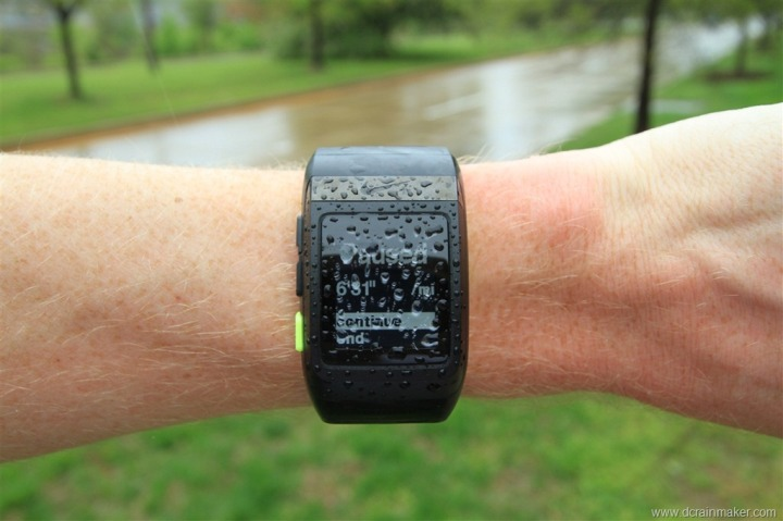 Nike+ GPS Sportwatch in the rain