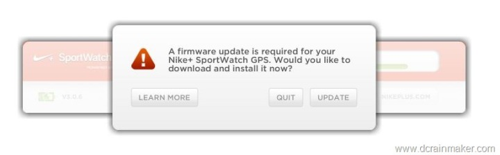 Nike+ GPS Sportwatch Firmware Update