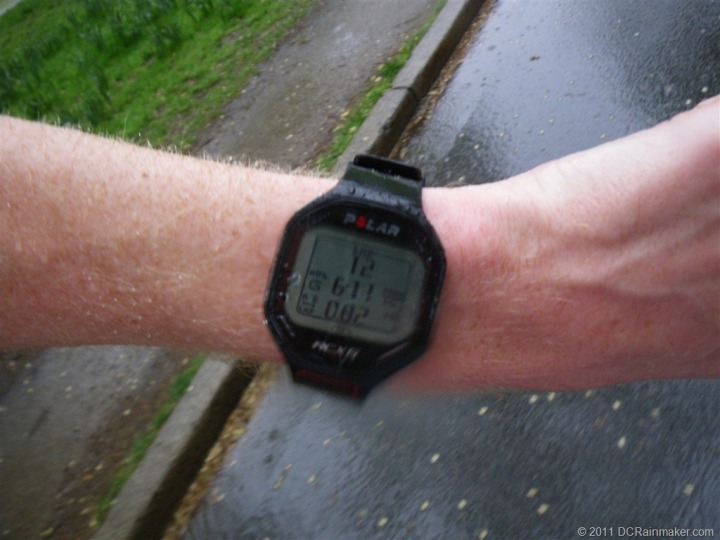 Polar RCX5 in wet run