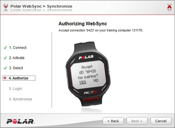 Polar RCX5 and Websync