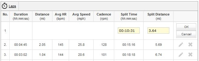PPT Bike Ride Workout Laps/Splits Data Modification